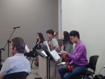 Alex Vidal, Cello // Melody Strickler, Vocalist // Andy Lin, Violist // Stephen Huang, Violist