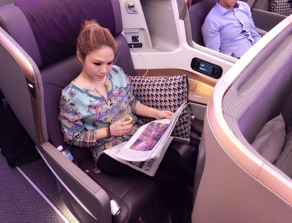 Cheryl was the sole Filipino invited on Singapore Airlines' inaugural flight to Dusseldorf, Germany last year onboard their brand new Airbus A350-900.