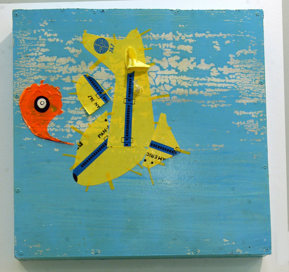 """Untitled 3""  Mixed media on wood  Variable dimensions   2011"