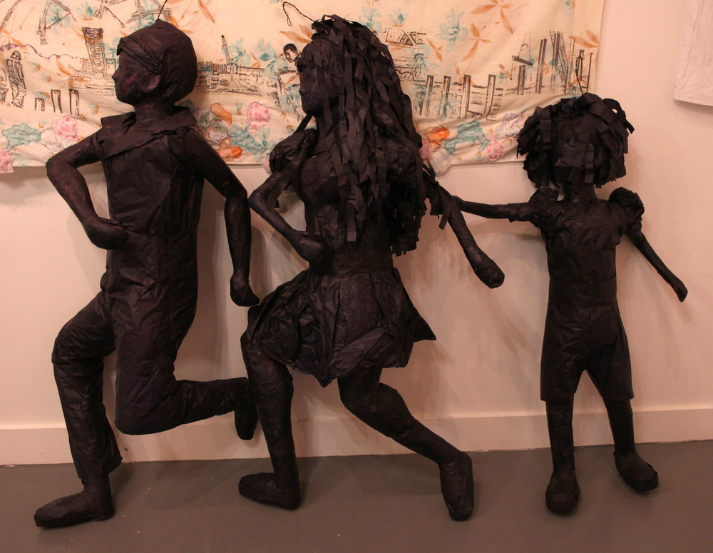 """Immigrant Family Crossing""  Piñatas  Variable dimensions  2011"