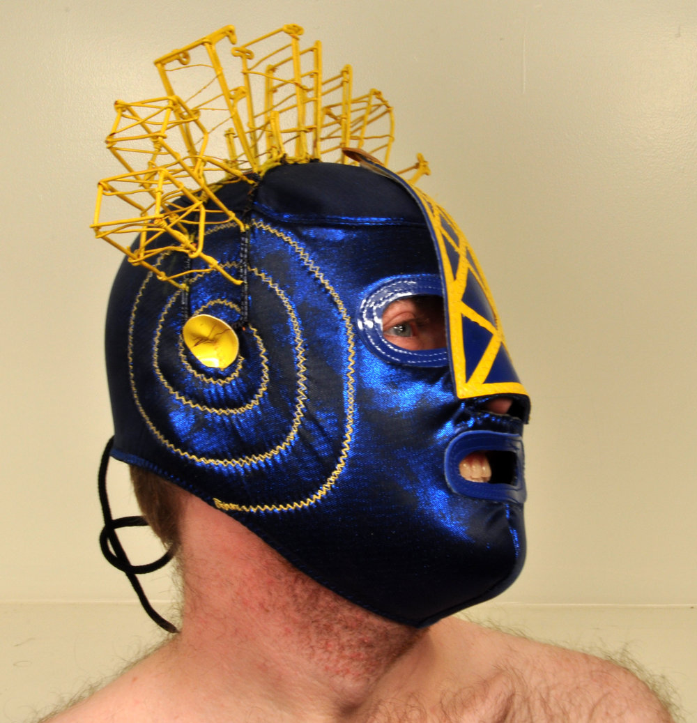 """Wrestling Mask Prejudice B""  Variable Dimension  2011"