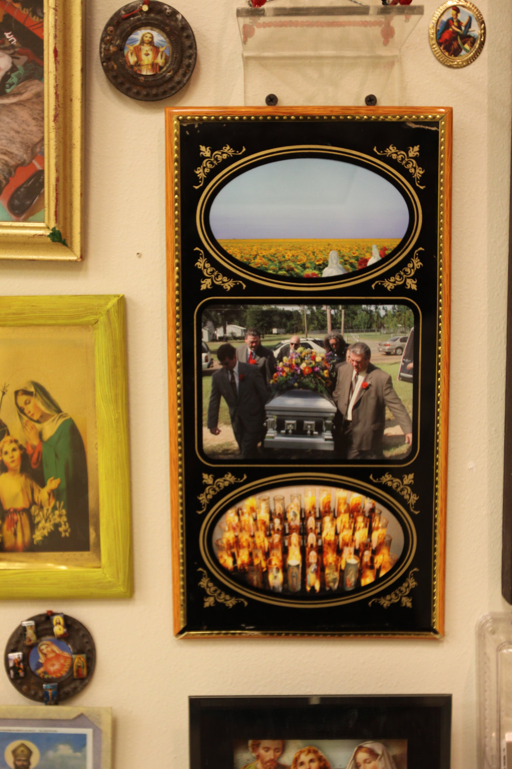 """""""Fathers Funeral""""  Installation view"""