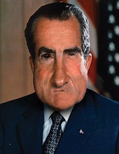 Frank Synowicz' portrait of Nixon