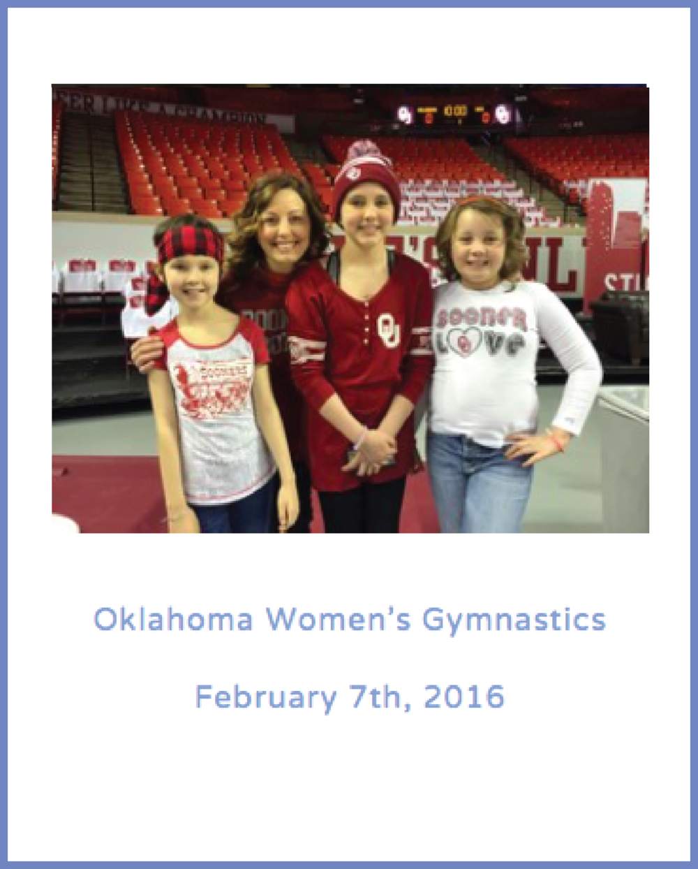 Oklahoma Women's Gymnastics                           February 7th, 2016