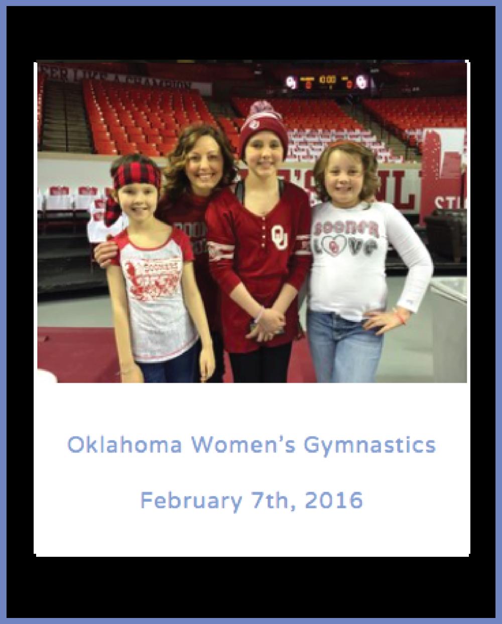 Oklahoma Women's Gymnastics             February 7th,2016