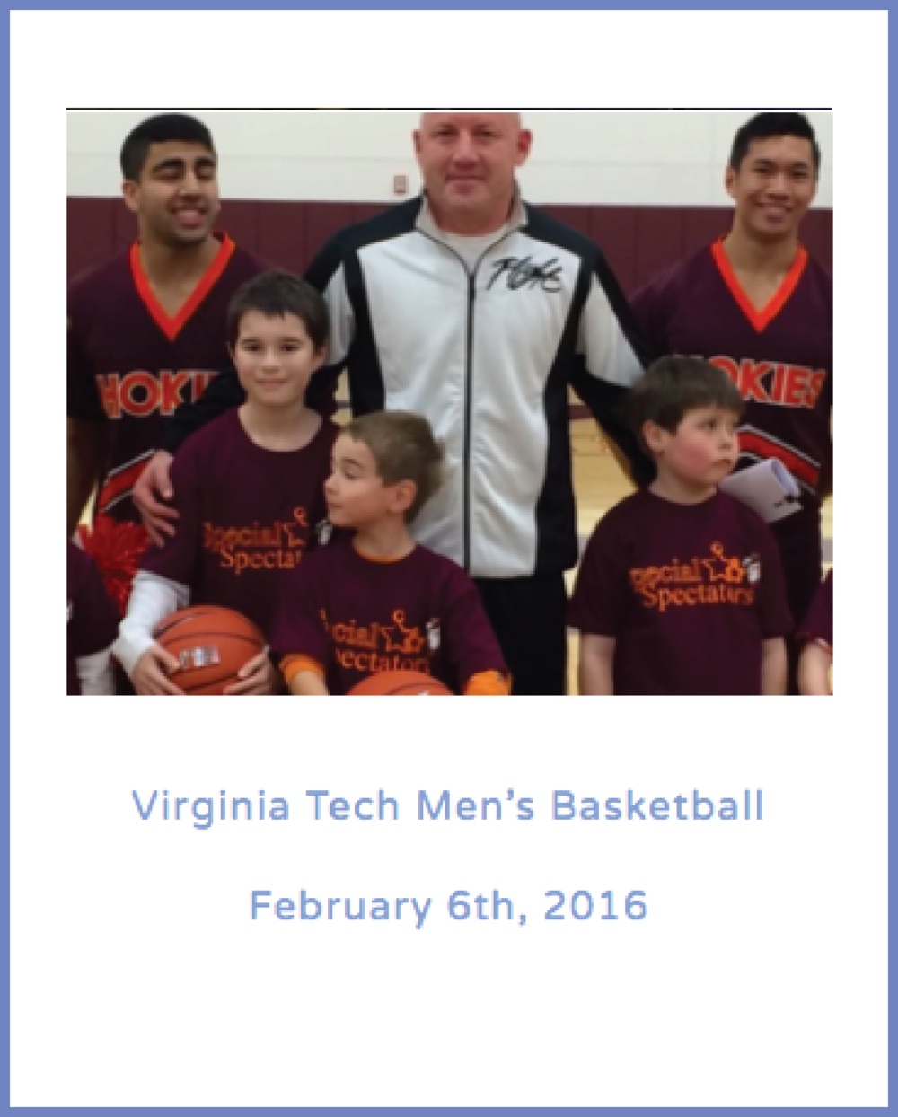 Virginia Tech Men's Basketball February 6th, 2016