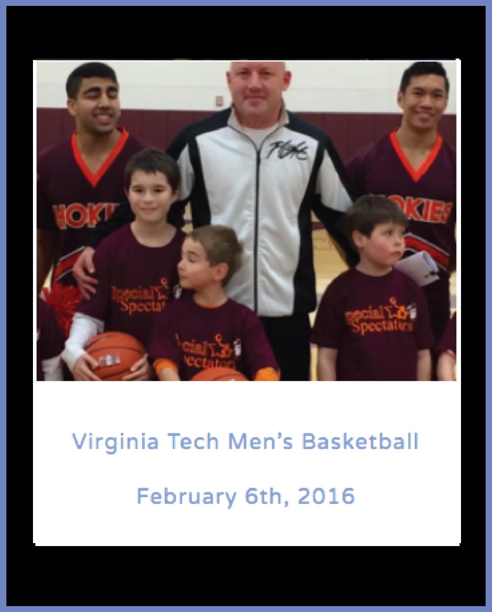 Virginia Tech Men's Basketball February 6th, 2016