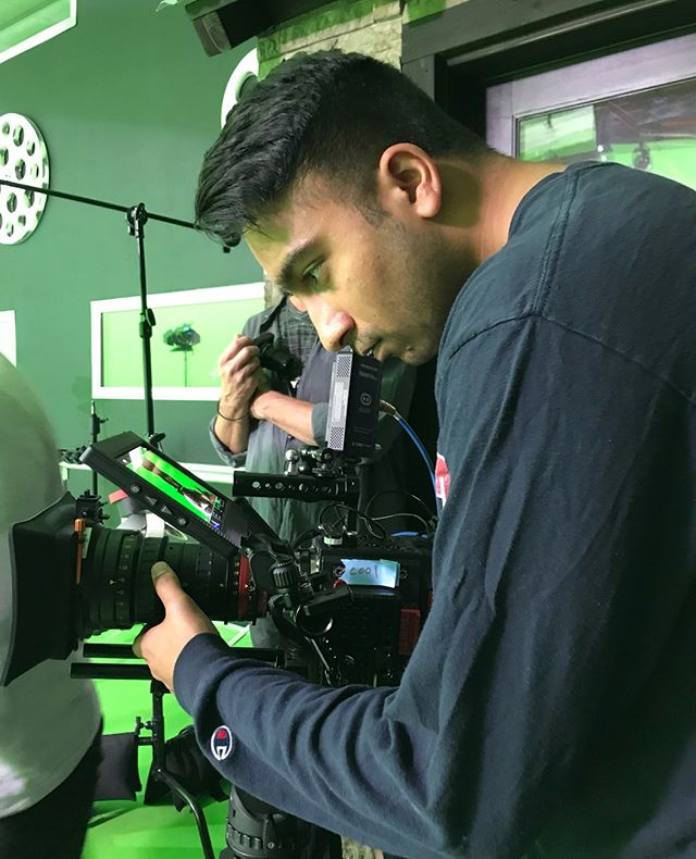 @basedprabh dialing in the 7K shot on the RED Epic-W with @angenieuxlenses at the @impactcreative studio in Santa Cruz, CA.  #crisp #focus #r3d #angenieux #nailedit