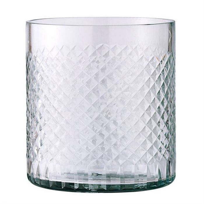 "Etched Glass Votive 4""  6 Available / $4 ea."