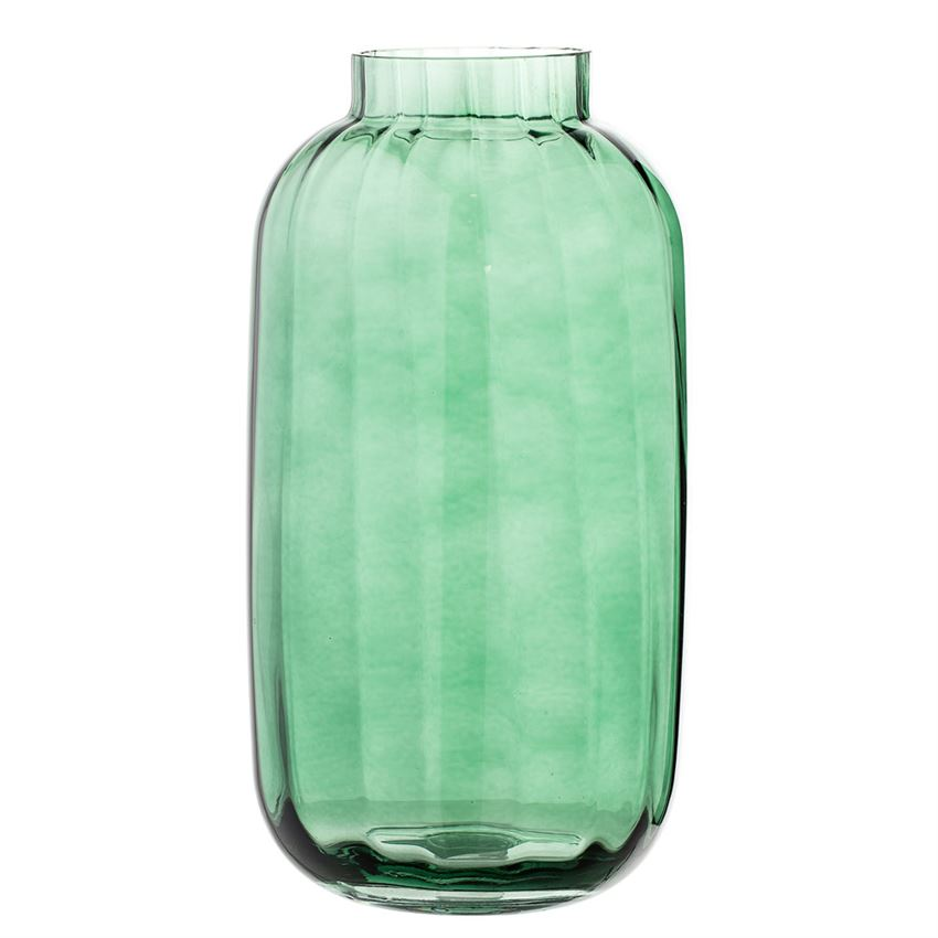 "Tall Green Glass Vase 12""  4 Available / $12 ea."