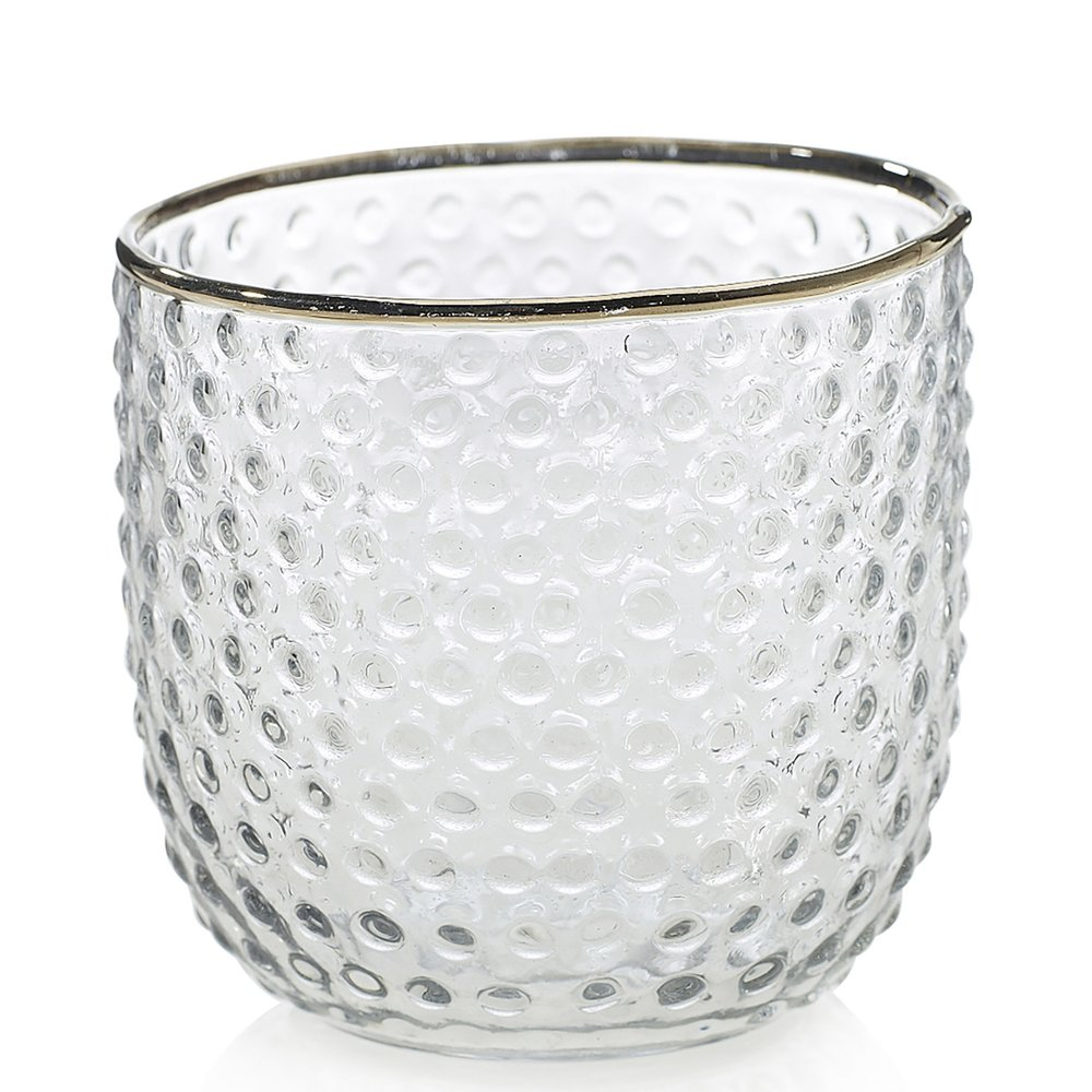 Gold Rim Glass Votive
