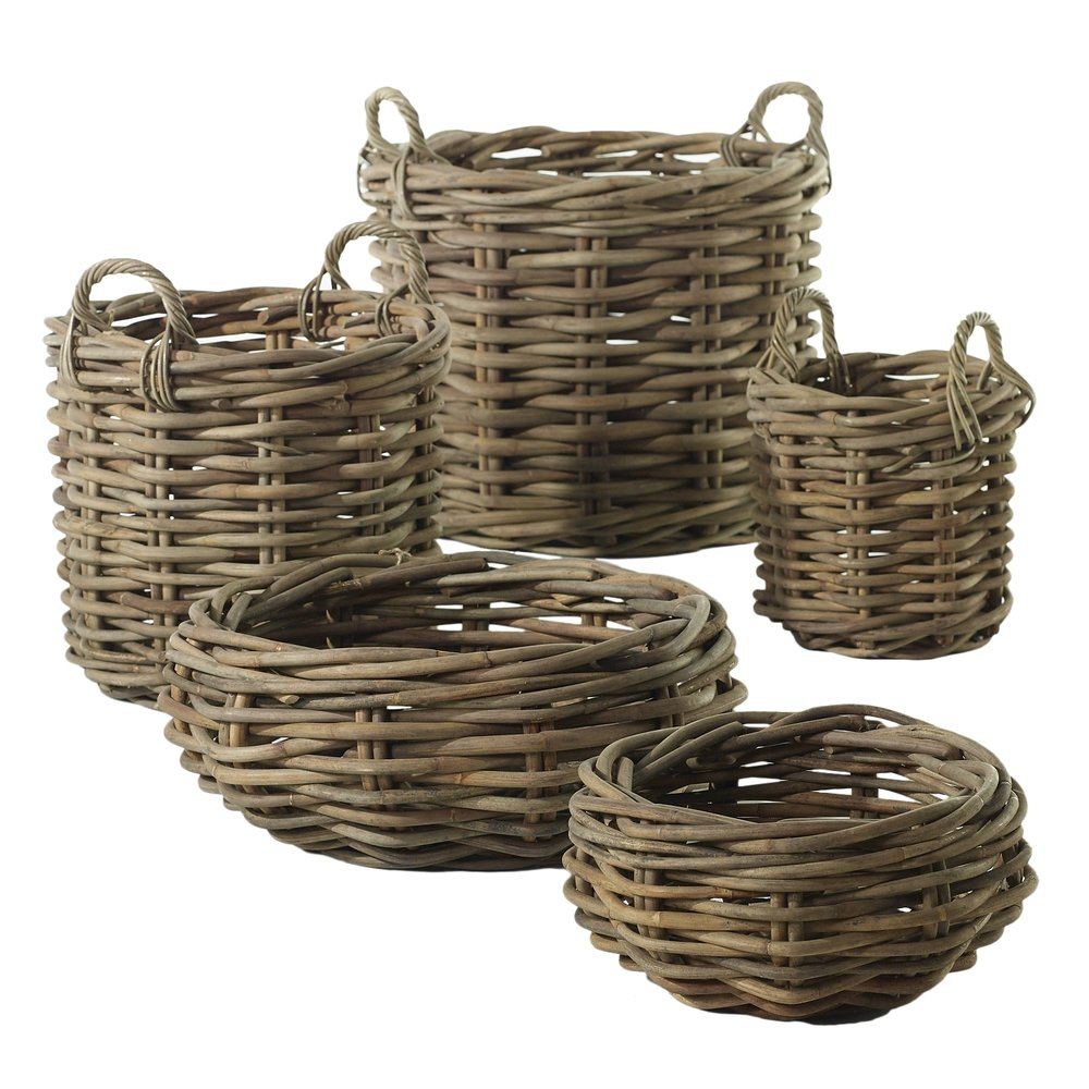 Rattan Baskets  4 Available / $12 ea.