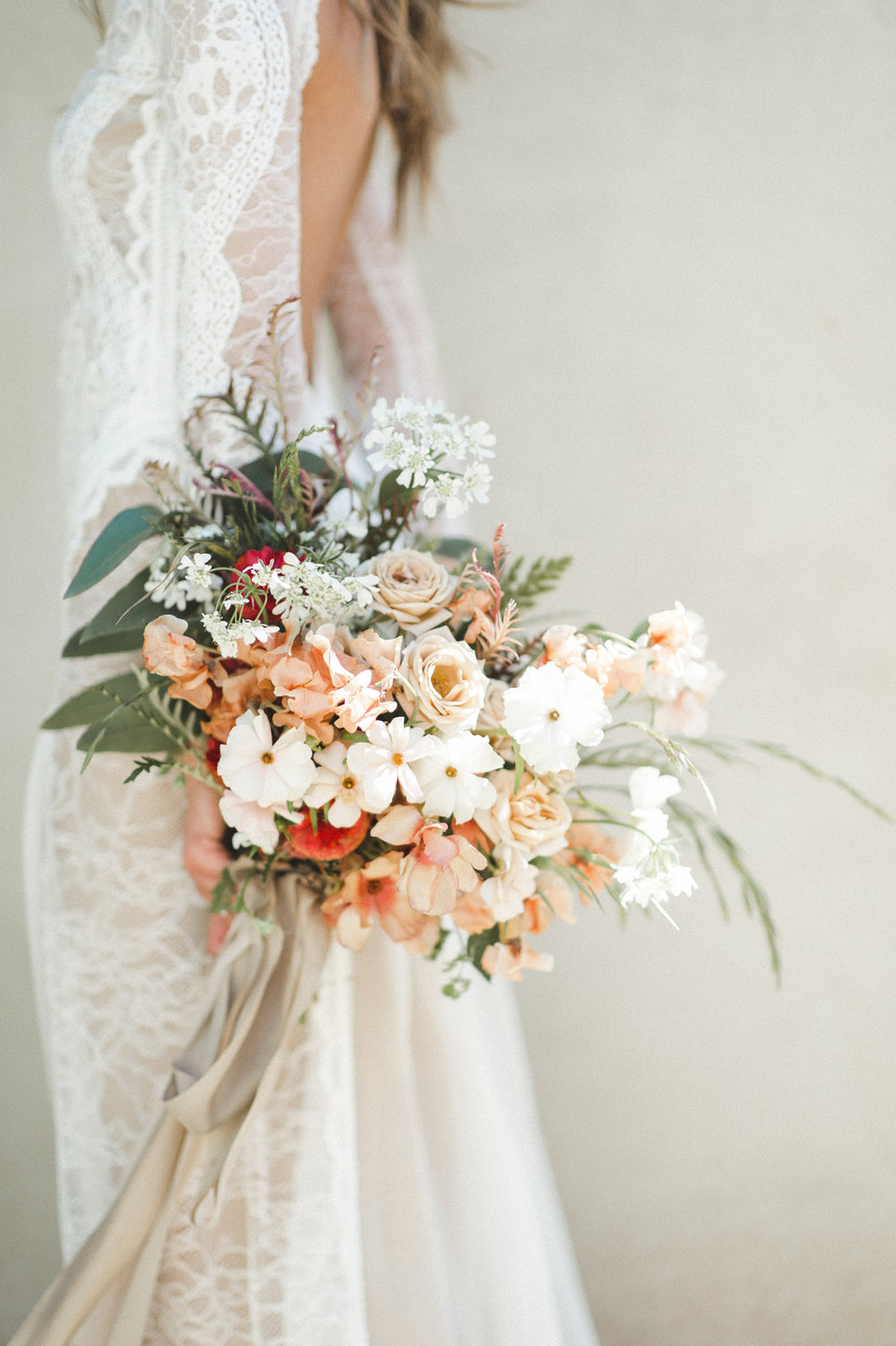 Santa Barbara Wedding, Boho Bride, Grace Loves Lace Dress, Organic Wild Flower Bridal Bouquet.