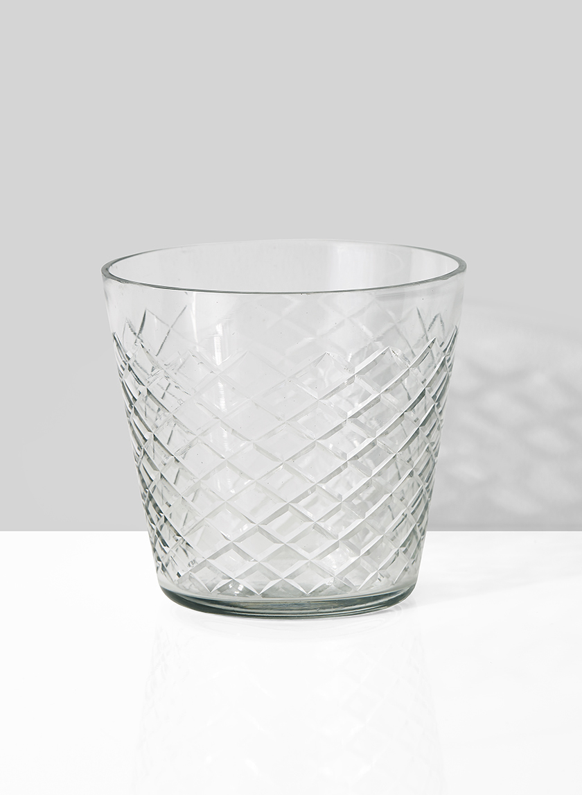 Etched Glass Votive Cups  50 Available / $4 ea.