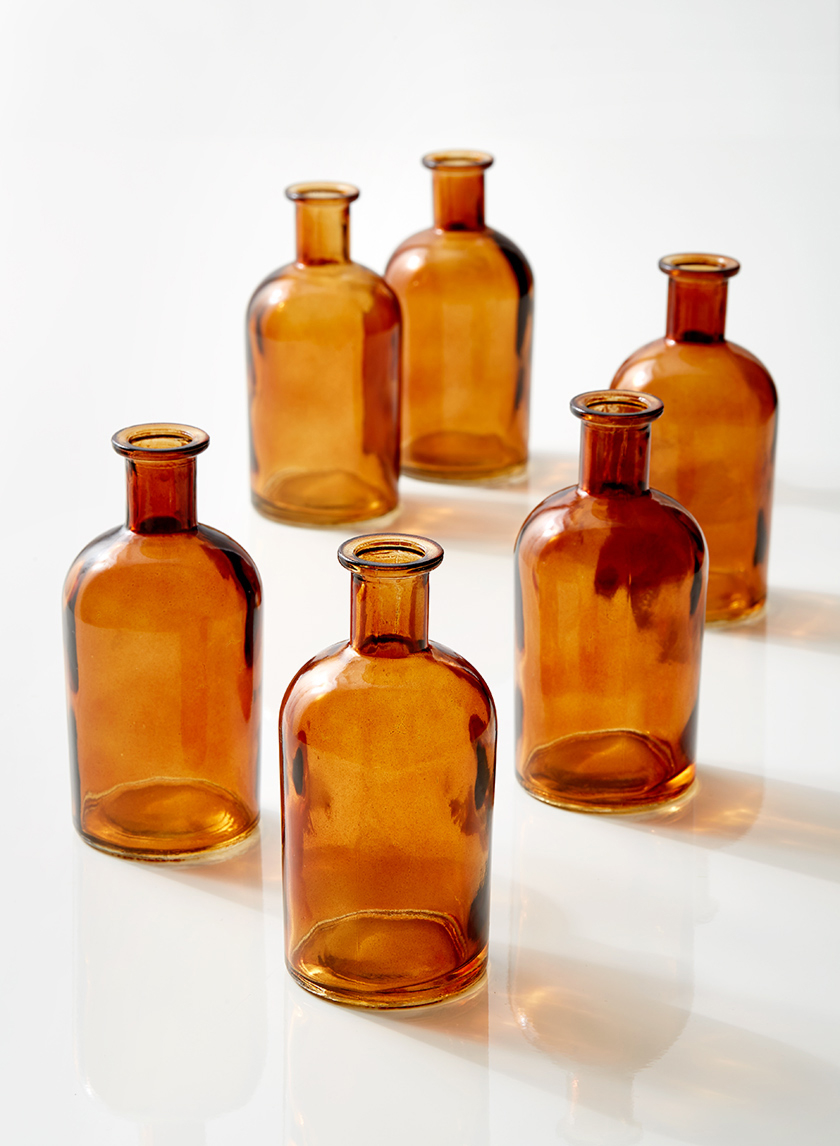 Amber Apothecary Bottles  30 Available / $2 ea.