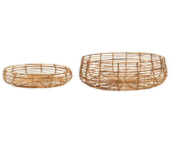 Low Rattan Baskets  4 Available / $15 ea.