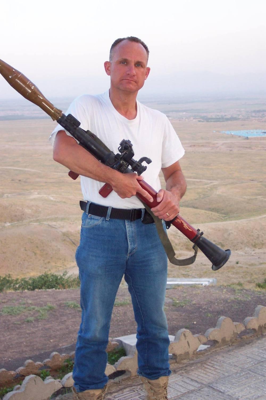 """Jim in """"civvies"""" in Kabul, 2002"""