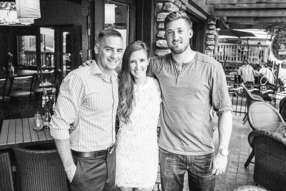 Evan has always been surrounded by a tremendous amount of community, which has certainly aided in his recovery.   Evan stands next to Captain Kelan Hughes (USMC) and his now-wife Jamie Hughes.