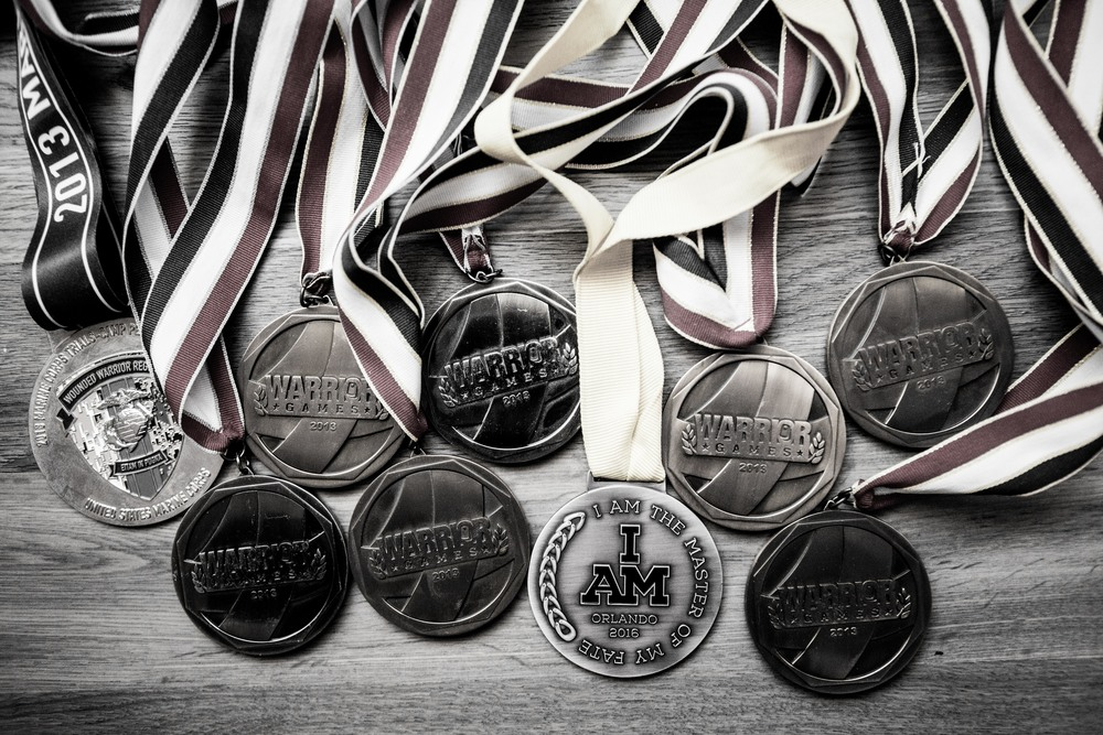 Evan's current medal count.