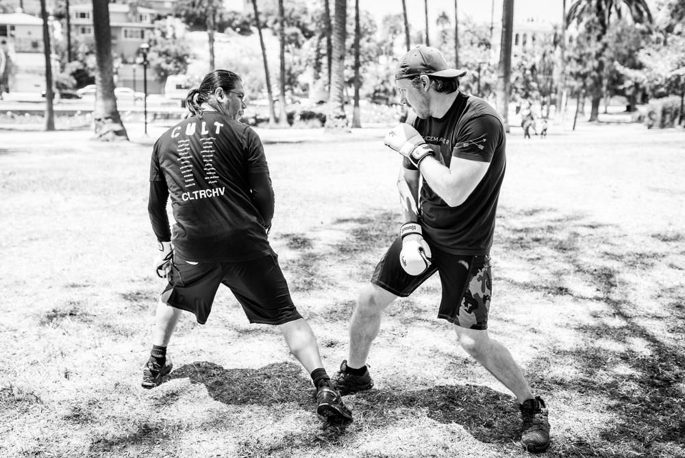Tyler trains with Kenpo instructor Richard Mesquita.