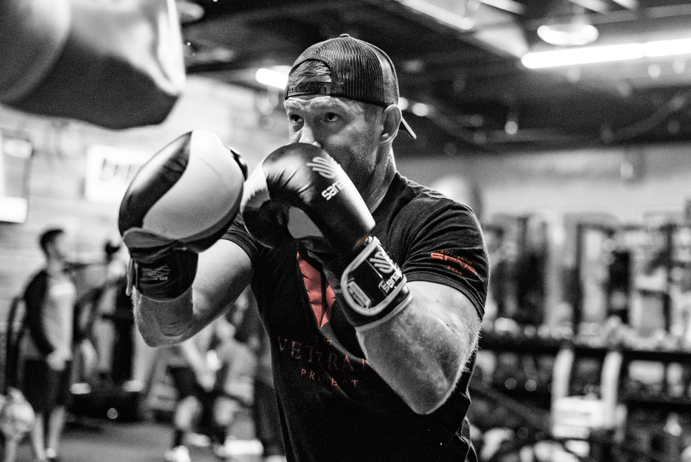 Nate working out at Unbreakable Performance.