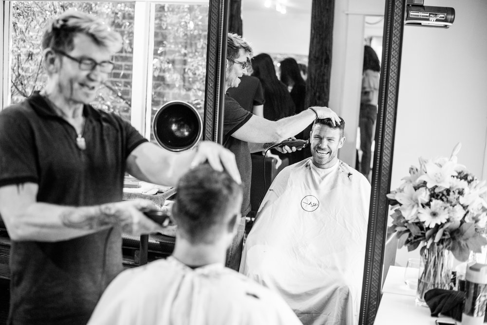 Michael John (Makeovers that Matter, a charity that specializes in giving homeless female veterans free haircuts and makeover).