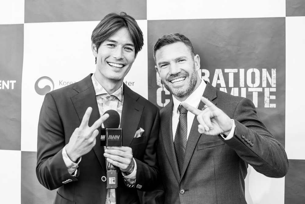 Nate at the Operation Chromite Premier.
