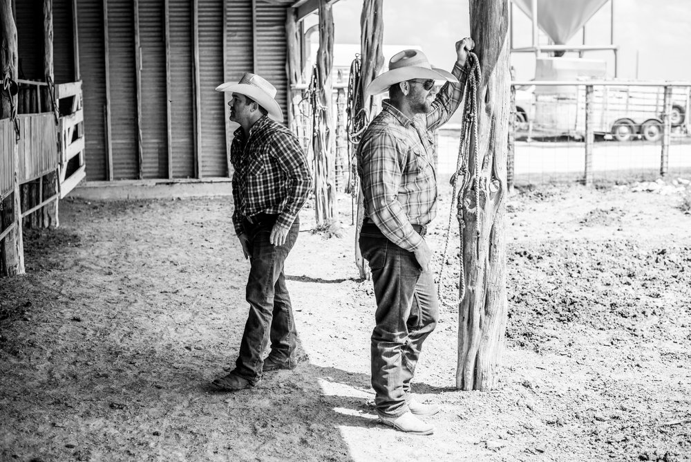 Bert with his friend and ranch boss, one of the best cattlemen in America, Buster Frierson.