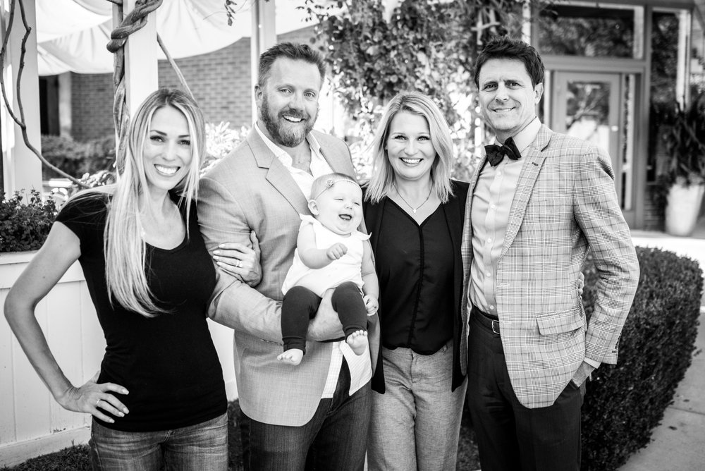 From left to right: Lizzie Van Camp (Jason's wife), Jason Van Camp, Heather Kahlert (Vice President of The Kahlert Foundation), Barclay Burns (entrepreneurship professor University of Utah)