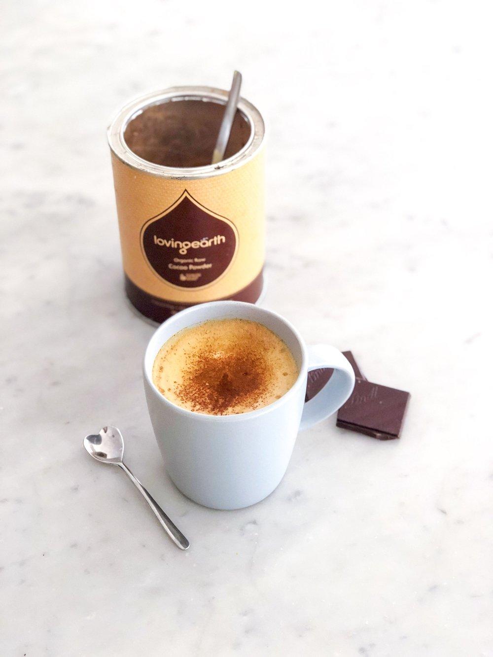 Guilt Free Turmeric Hot Chocolate