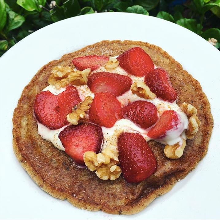 Low Carb Vanilla Protein Pancakes