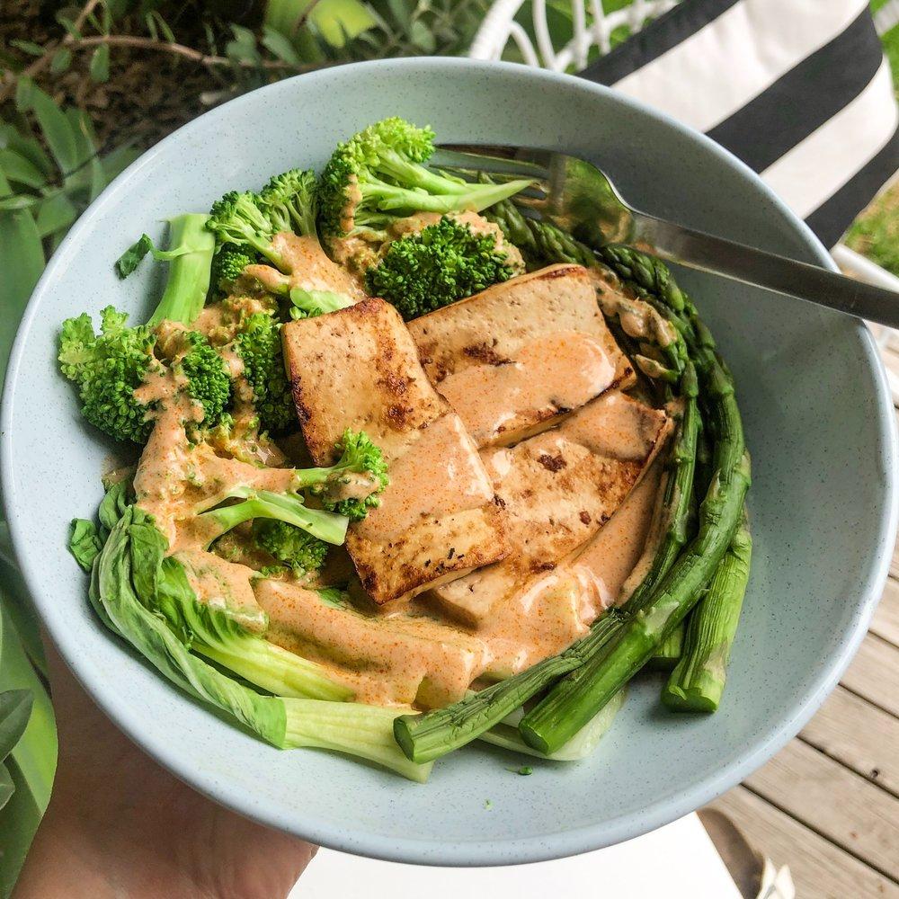 10 Minute Thai Coconut Greens Bowl