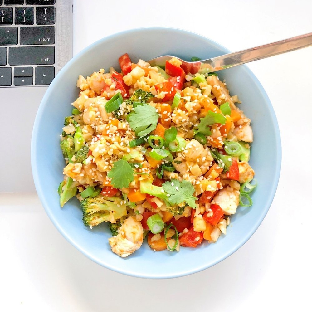 Quick and easy healthy fried rice