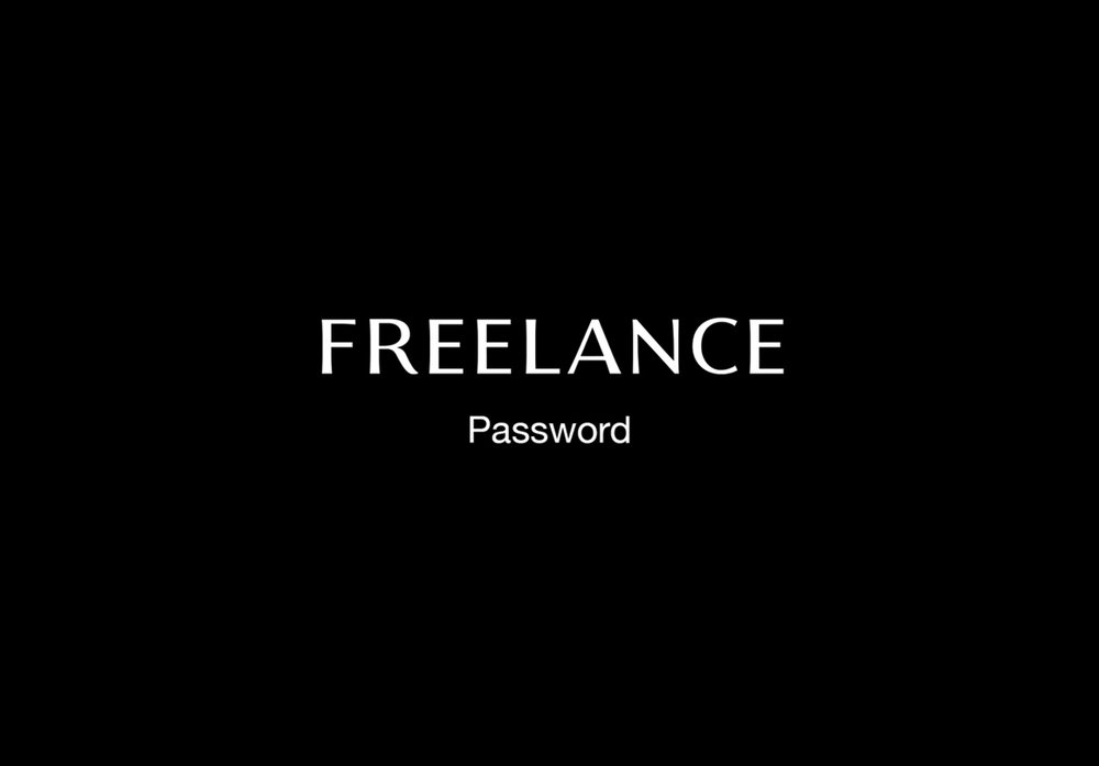 "FREELANCE ""Hit me up at  info@delvetica.net  for password"""