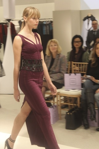 The floor length 'Alenis' gown in this season's hottest hue