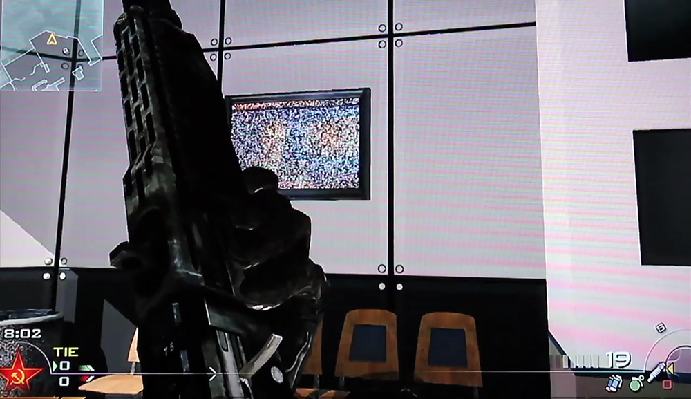 Claire L. Evans, Modern Warfare,  2010, still frame from video installation