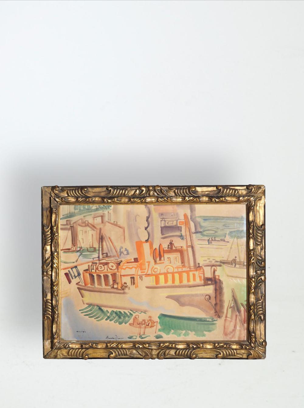 American painter Alexander Robinson (1867 - 1952)