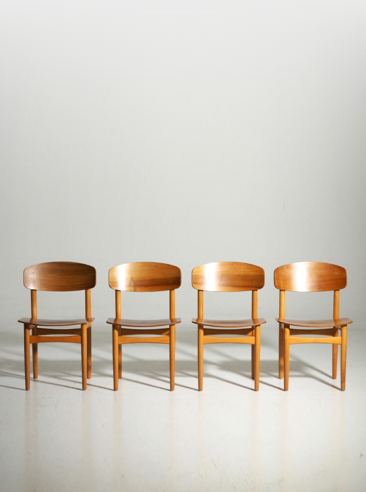 Four Børge Mogensen Chairs, model 122. 1960´s