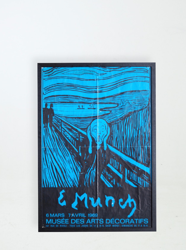 Rare poster,Edward Munch 1969