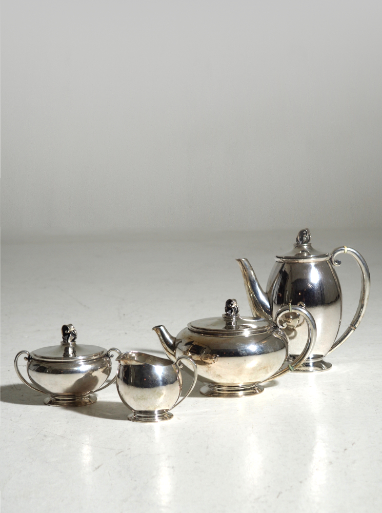 Coffee and thé set (4), by Evald Nielsen