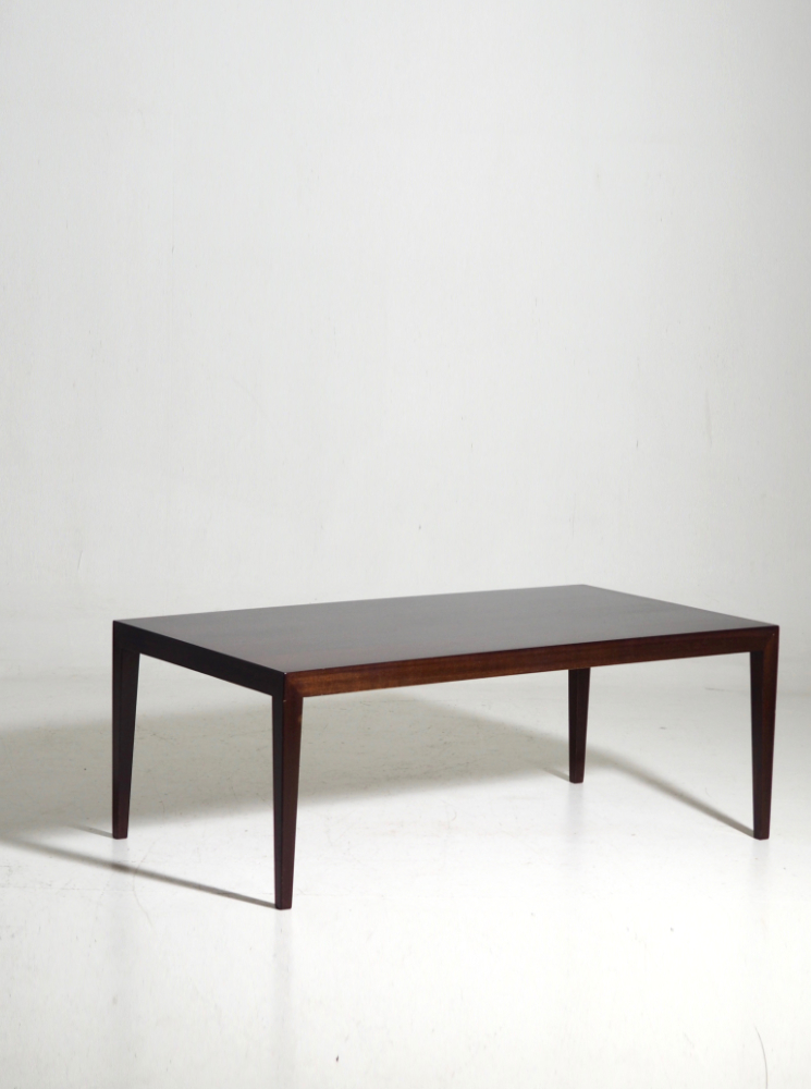 Coffee table in rosewood, by Severin Hansen, 60's.
