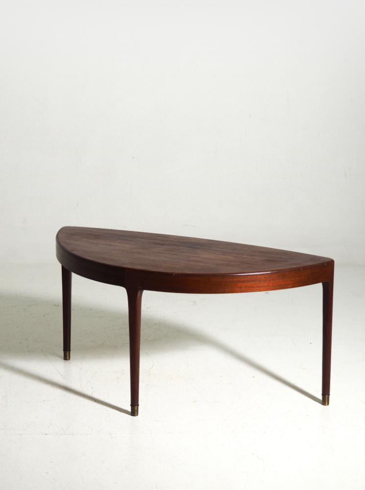 Rare coffee table in teak, Danish architect, circa 1960