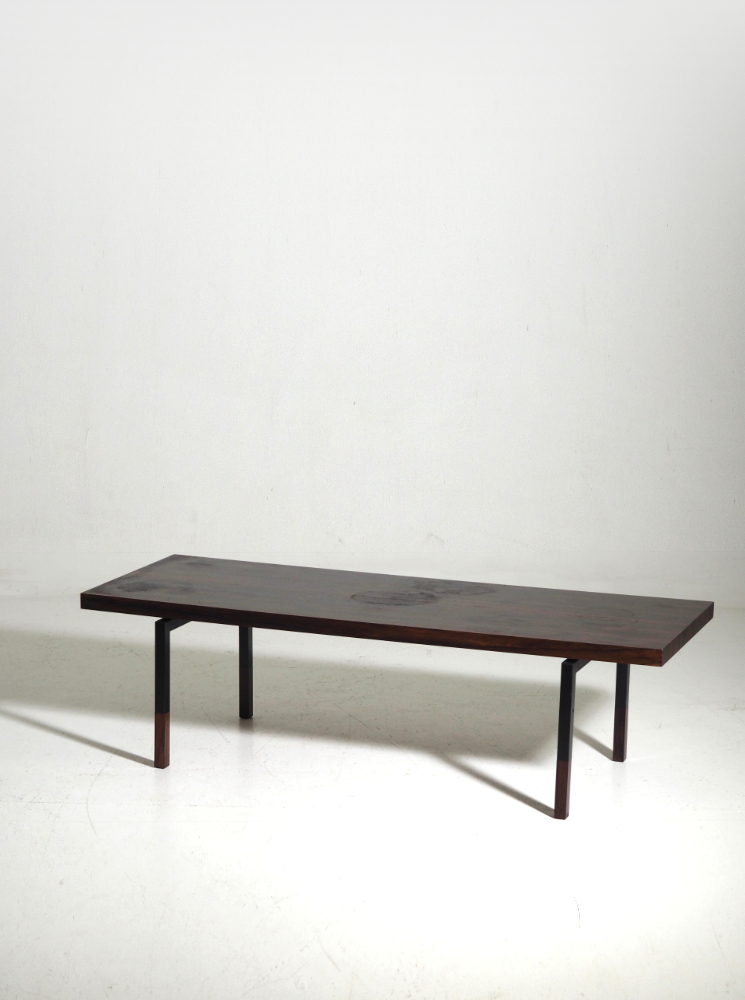 Coffee table in rosewood, Danish architect, 60's