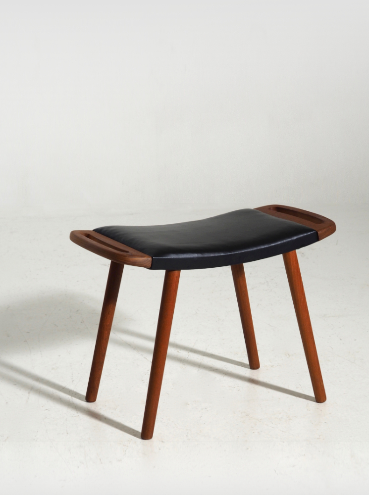 Danish stool in teak, 60´s. H. J. Wegner style