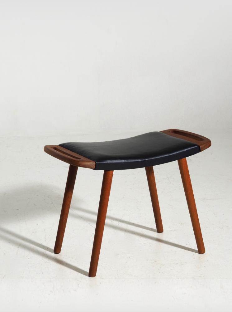 Danish stool in teak, 60´s. H. J. Wegner style