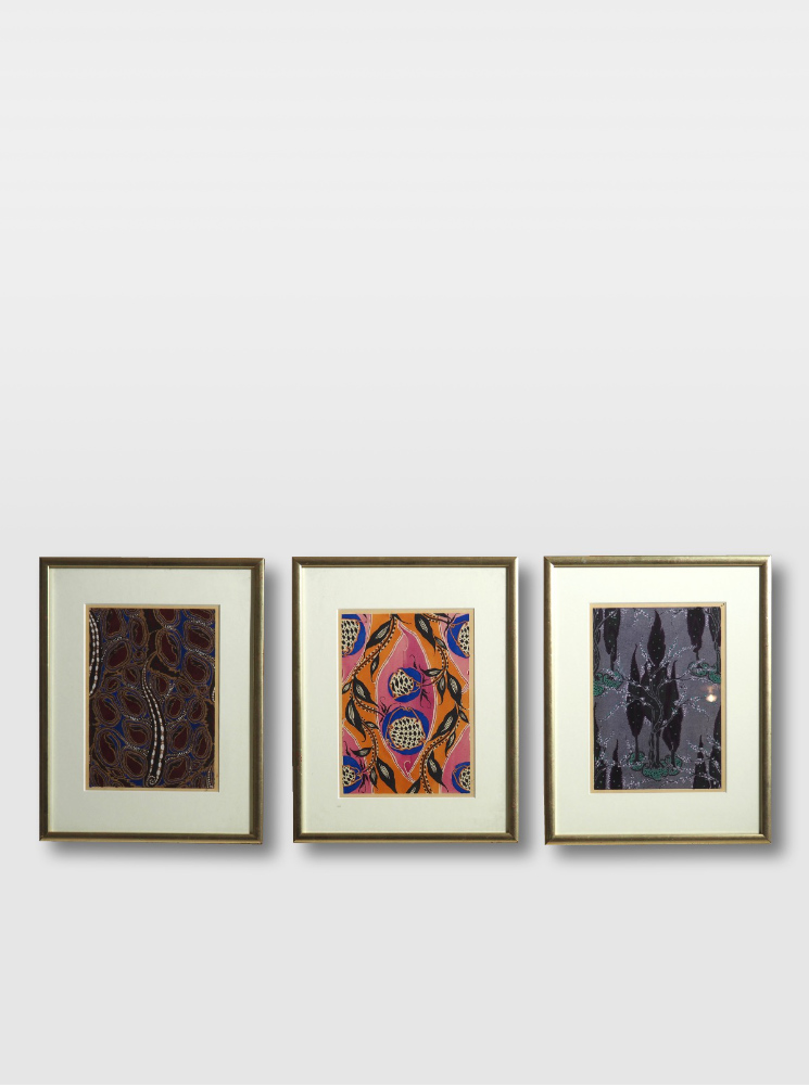 Three woodcut, Matisse style, circa 1910