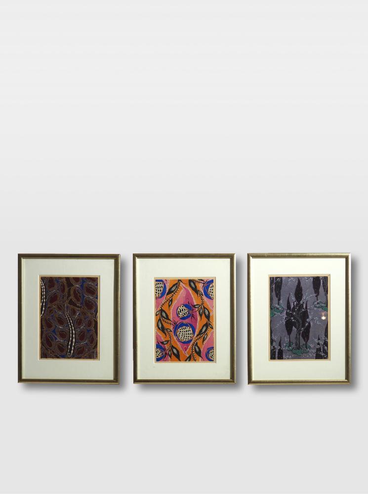 Three woodcut, Matisse style, circa 1910