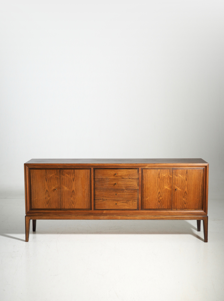 Important sideboard, Danish architect,Rosewood, 60's