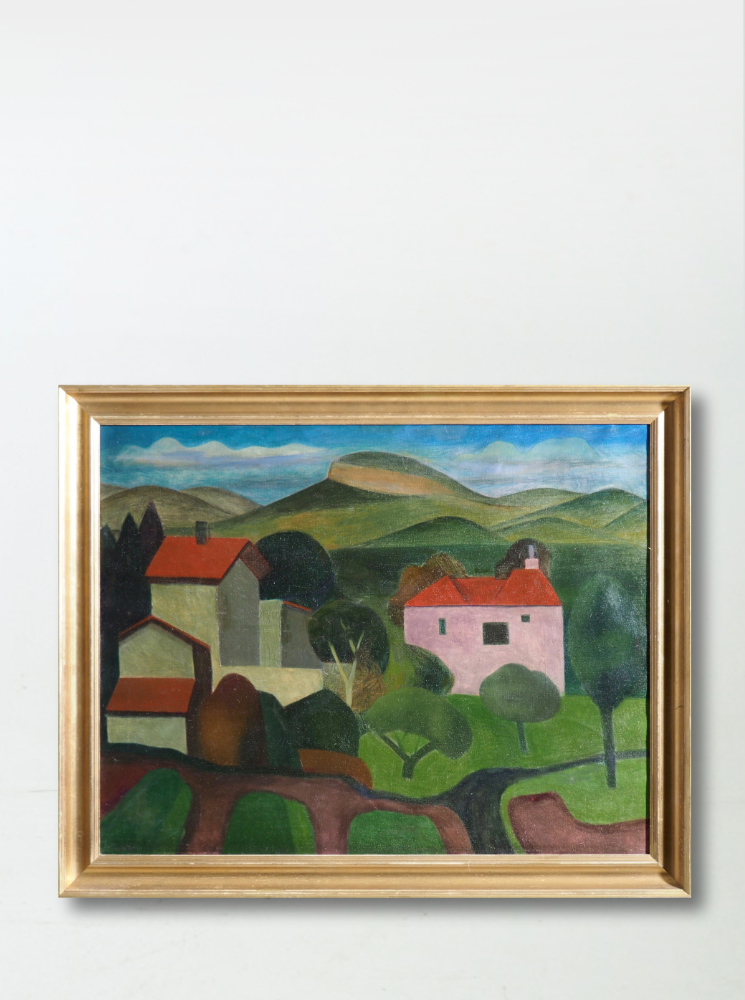 French painting, signed Olaf Stenersen, 1928.