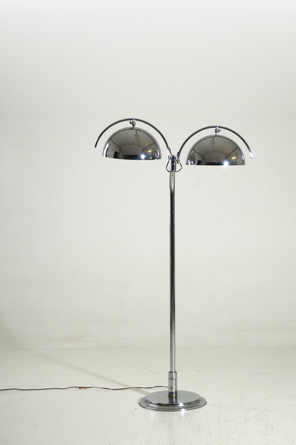 Very rare Italian lamp in chromed steel, 60's / 70's